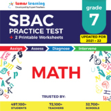 SBAC Practice Test, Worksheets - Grade 7 Math Smarter Balanced Test Prep