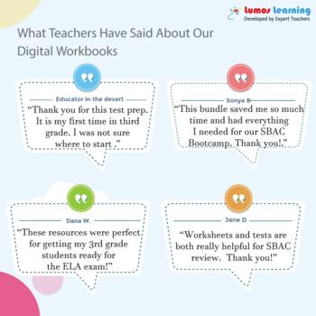 SBAC Practice Test, Worksheets - Grade 7 Math Smarter Balanced Test Prep
