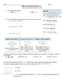 SBAC Practice Worksheet: Quadratic Functions