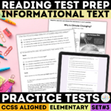 SBAC Reading Practice Tests Set 3 Grades 3-5