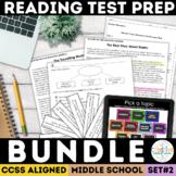 Reading Test Prep Bundle | Smarter Balanced | PDF & Digital