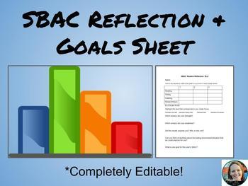 SBAC Reflection and Goal Sheet