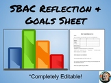 SBAC Reflection and Goal Sheet