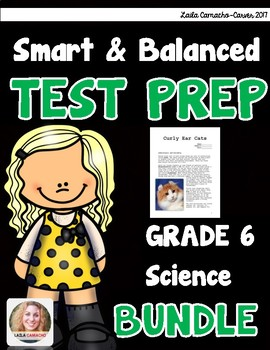 SBAC and PARCC Science 6th Grade BUNDLE