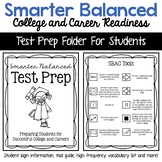 SBAC Smarter Balanced Assessment Test Prep Folder Material