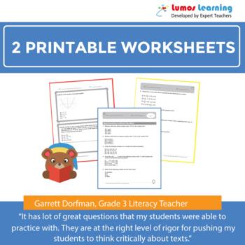 Smarter Balanced Practice Test and Worksheets Grade 3 ELA, SBAC Test Prep