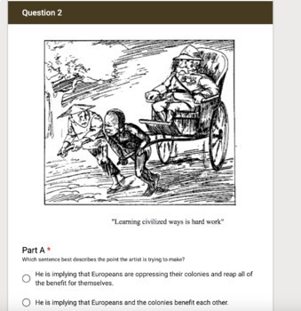 SBAC Style Google Forms Test-European Imperialism