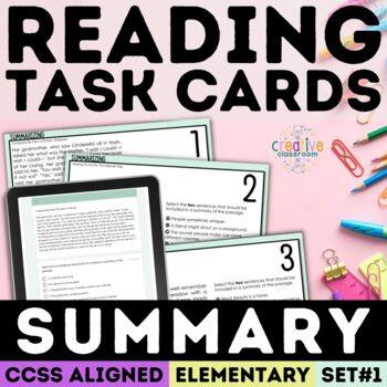 SBAC Summarizing Task Cards Grades 3-5