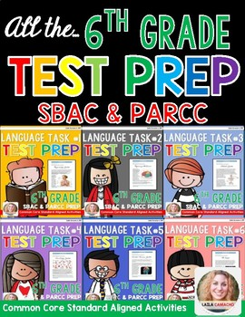 SBAC and PARCC Test Prep 6th Grade