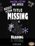 """Fig Lang: 1 PDF &Online POEM, """"Title Missing"""" - Metaphor Poem -Distance Learning"""