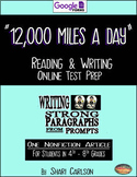 "SBAC Test Prep ~ 1 ONLINE Text, ""12,000 Miles a Day"" ~ about the body"