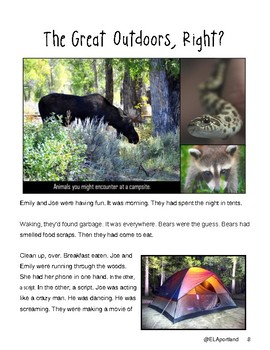 "SBAC Test Prep ~ 1 PDF Text, ""The Great Outdoors, Right?"" ~ About 2 Kids Camping"