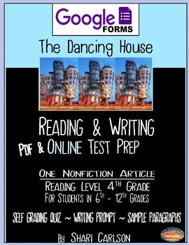 "SBAC Test Prep ~ 1 PDF Text ""The Dancing House"" about a unique building"