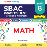 SBAC Test Prep Math - SBAC Practice Test & Worksheets Grade 8 Math