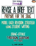 SBAC: REVISE A BRIEF TEXT ~ 3rd - 6th GRADES ~ PDF & ONLINE Google Forms