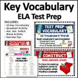 SBAC Test Prep Vocabulary Cards