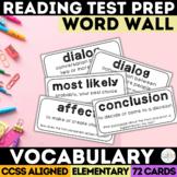 SBAC Test Prep Vocabulary Word Wall Grades 3-5