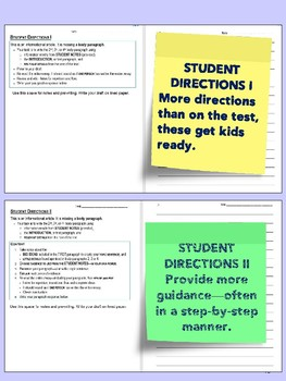 SBAC Writing Test Prep Brief Write~3rd-5th GRADES~Google Forms & Paper Versions
