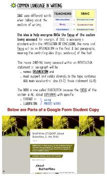 SBAC Writing Test Prep 2 Brief Writes ~ BUNDLE~3rd-6th GRADES~Google Forms