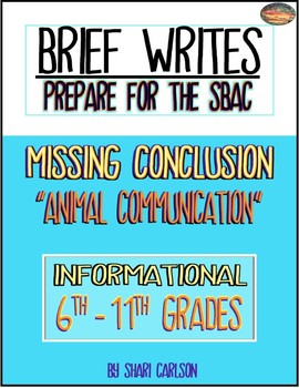 SBAC Writing Test Prep Brief Write~6th-11th GRADES~Google Forms & Paper Versions