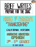 SBAC Writing Test Prep~ Brief Write CALIF. VERSION ~ Google Doc & Paper Versions