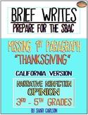 SBAC Writing Test Prep~ Brief Write CALIF. VERSION - Googl