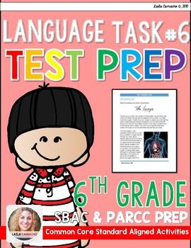 SBAC and PARCC ELA Test Prep Task 6