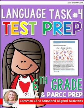 SBAC and PARCC 6th Grade ELA Task 4