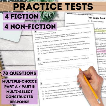 SBAC and PARCC Reading Test Prep Bundle