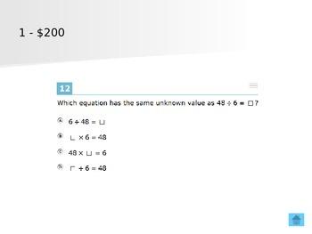SBAC math Jeopary 3rd grade