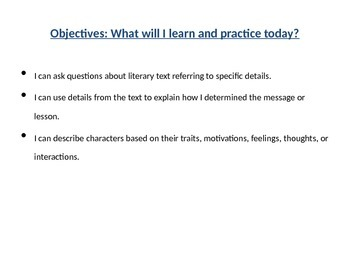 SBAC practice: fiction, 3rd grade
