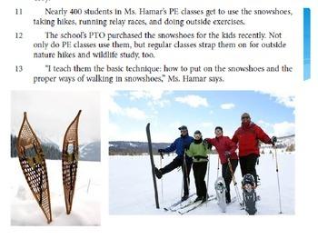 SBAC preparation 3rd grade ELA: Snow Fun on the Run!