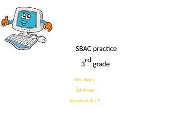 SBAC preparation lesson: ELA, fiction, 3rd grade