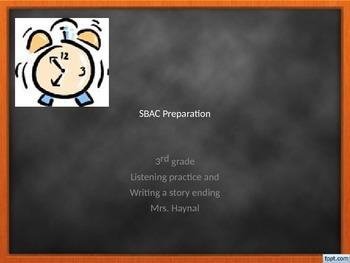 SBAC preparation lesson: ELA, writing and listening, 3rd grade