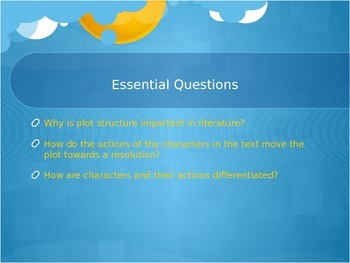 PowerPoint: Plot! RL.6.3- Key Terms, Essential Questions, Learning Targets