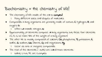 SBI4U: Biochemistry Slides