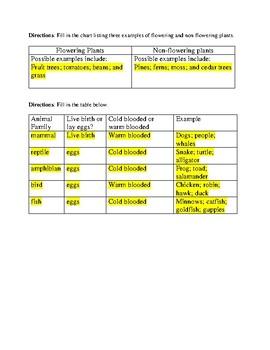 SC 4th Grade Organisms Review