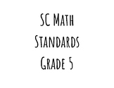 SC 5th Grade Math Standards