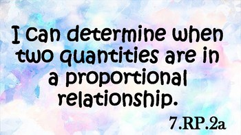 SC 7th grade I can Statements for Ratio and Proportional Relationships
