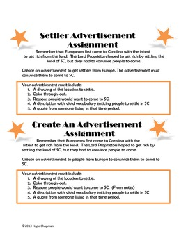 SC Activity- Create an Advertisement for Settlers