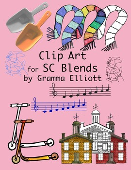 SC Blends Clip Art - Color and Black Line - 300 dpi  PNG's