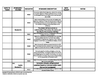 SC CCR standards:  ELA, Writing, and Social Studies - 4th  grade