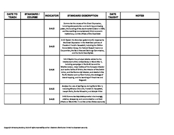 SC CCR standards:  ELA, Writing, and Social Studies - 5th  grade