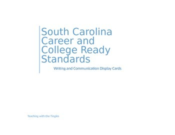 SC Career & College Ready Standards Display Cards- Writing and Communication
