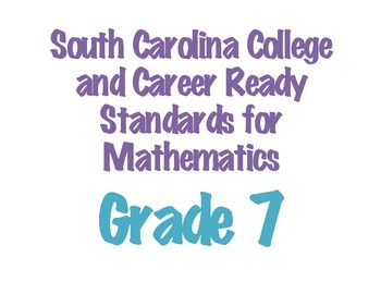 SC College and Career Ready Standards 2015