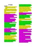 SC ELA Standards by Benchmark Third Grade