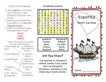 South Carolina Explorers Brochure