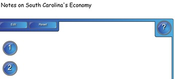 South Carolina History 8-1.5 Smartboard Activities
