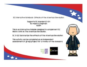 SC Interactive Notebook- Effects of the American Revolution