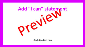 SC Math and ELA Standards with I Can statements
